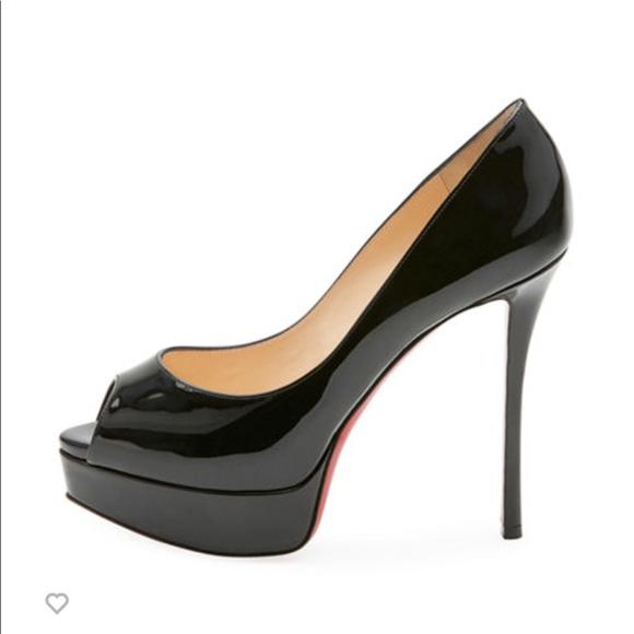 f1bf5a060e92 Christian Louboutin Shoes - Christian Louboutin Fetish Peep-Toe Platform  Pump